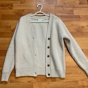 Wilfred cream knit cardigan